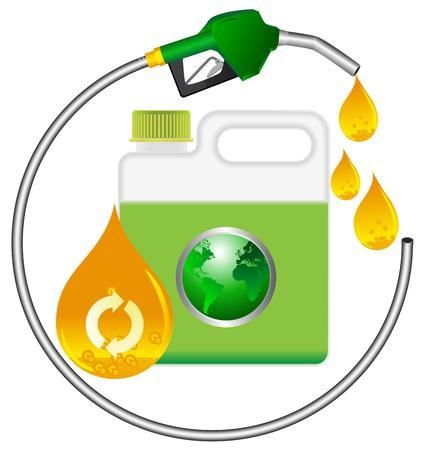 petrol can: gas y manguera de repostaje rojo puede