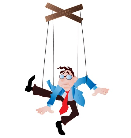 employee as a puppet on strings Stock Vector - 10551395