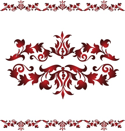 illustration Vintage floral design on a white background Vector