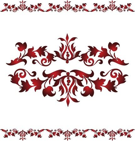 illustration Vintage floral design on a white background