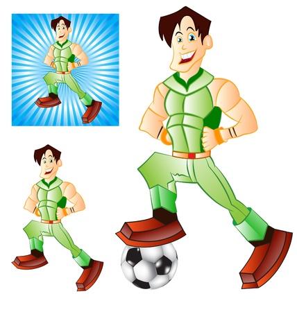 illustration of Generic super human man 3 versions Stock Vector - 10853270