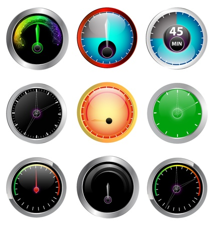 speed limit: colorful illustration speedometers for car