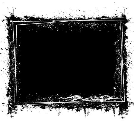 Grunge brushed background one color Illustration