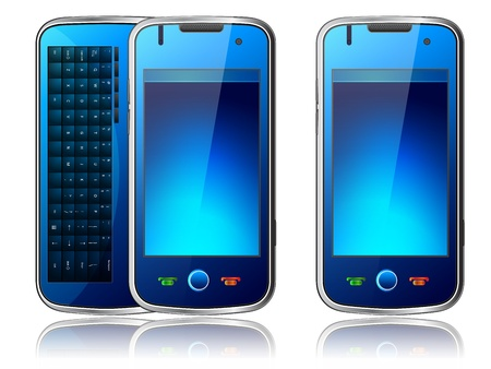 qwerty: illustration of Mobile phone with qwerty Illustration