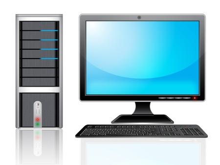 illustration of Personal computer monitor. Illustration