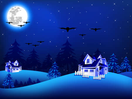 illustration of Christmas night Vector