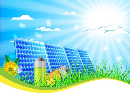 illustration of solar panel Vector