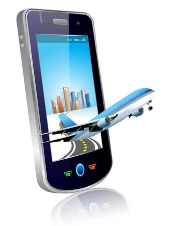 databank: illustration mobile & Plane