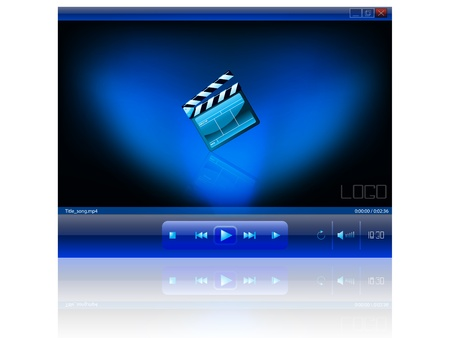 video player: All the effects are created with gradient mesh, blending and transparent effects. Open the file only in transparency supported software. Illustration