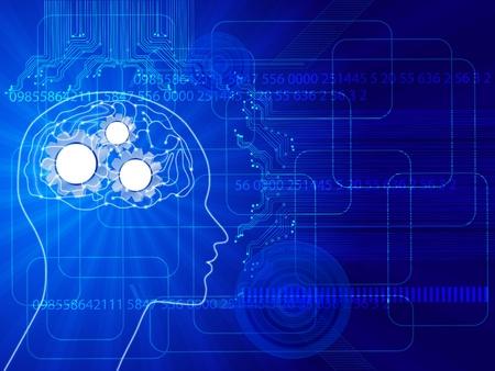 cerebros: el concepto de fondo de la ciencia humana thinking.Abstract con el cerebro