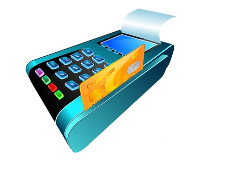 The input reader of credit cards  Vector