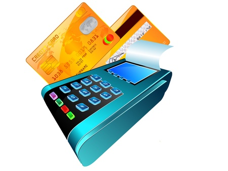 reader: The input reader of credit cards