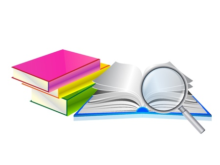 Searching in an open book Vector
