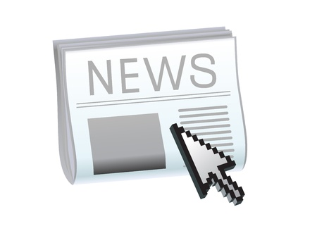latest: vector inet news icon Illustration