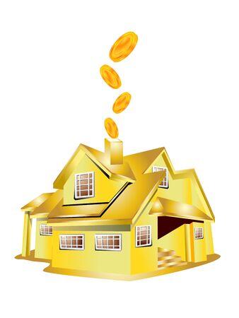 libra esterlina: libras esterlinas de dinero con la casa