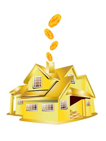 pound sterling money with house Vector
