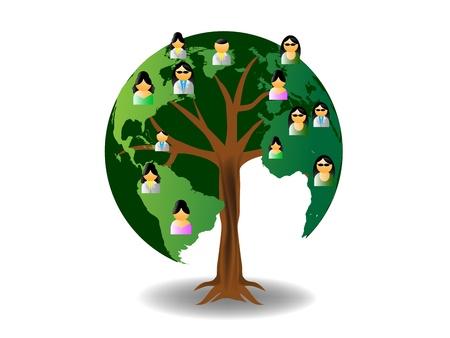 поколение: Мировое древо с людьми иконки