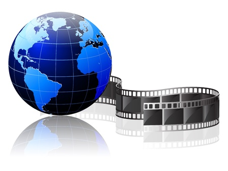 Earth wrapped in film Illustration