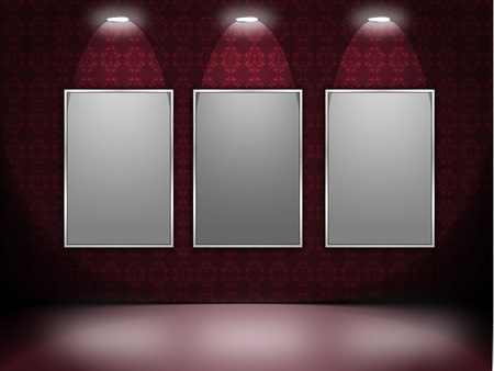 illustration of lights and photoframe Vector