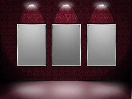 ilustración de las luces y photoframe