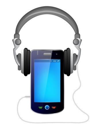 smart phone music player Stock Vector - 12268686