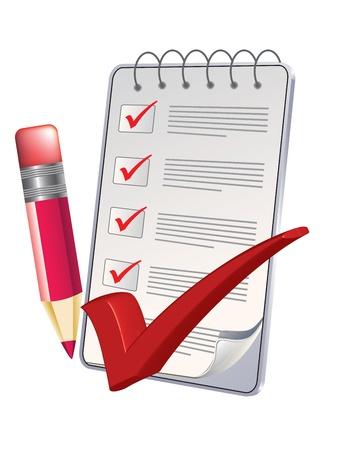inventario: Bloc de notas y un lápiz