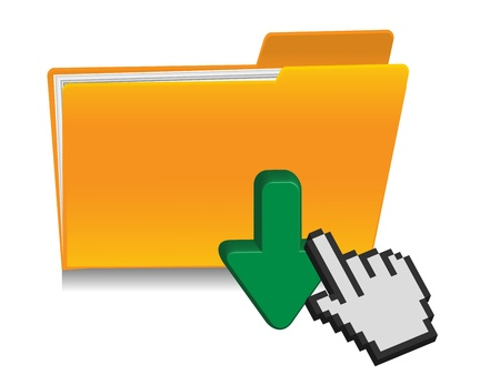 download folder icon Stock Vector - 12268700
