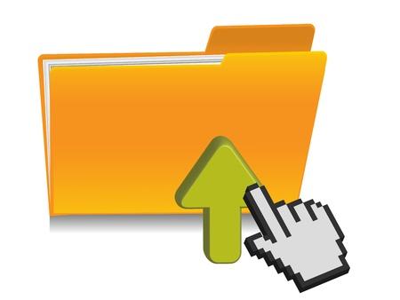 upload folder icon Vector