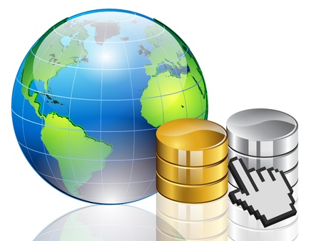 illustration of Global data storage Vector