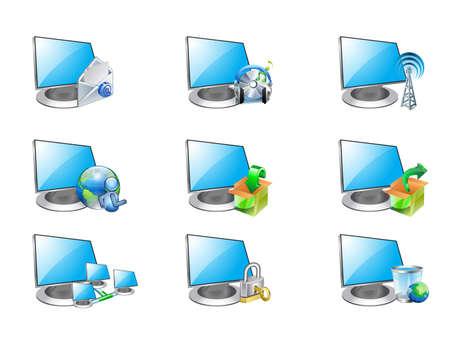 computer icon Stock Vector - 12448249