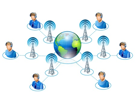 people connected all around the world Stock Vector - 12803098