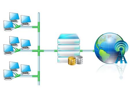Computer Concept networking Stock Vector - 12803108