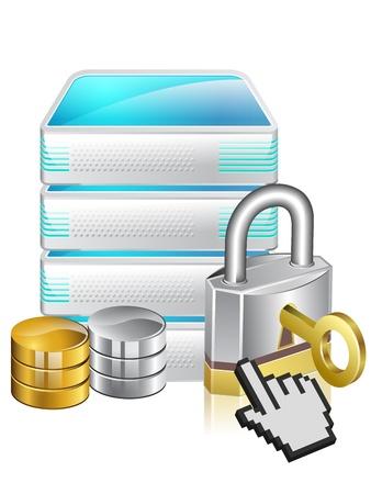 network switch: Server defender  Network Equipment Icon  Network Router, Switch, Server  Illustration