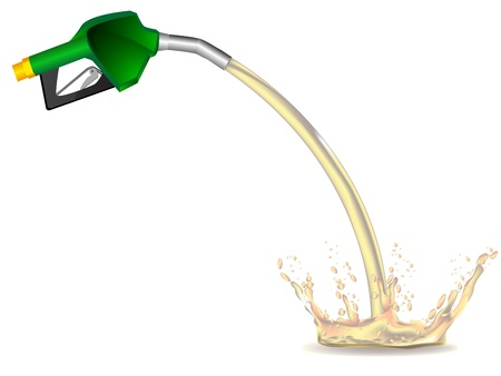 filling station: green refueling hose