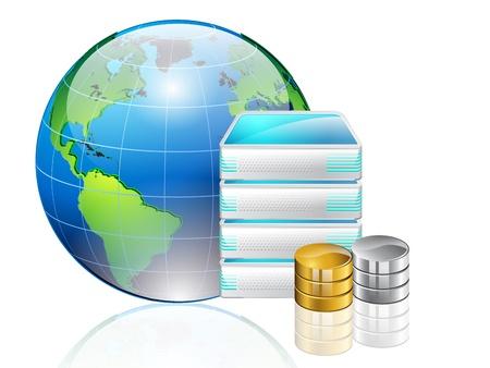 transferring: Data transferring concept  Illustration