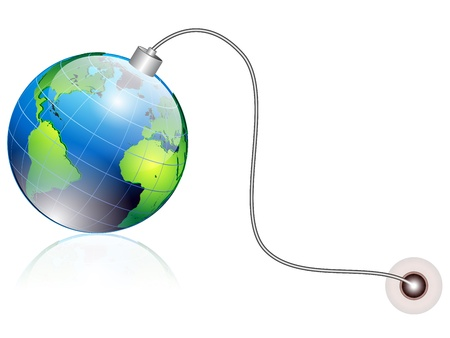 earth globe in shape of a bomb Stock Vector - 12803162