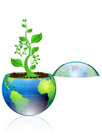 gaia: illustration of Environmental concept