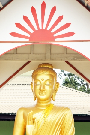 Buddha statue and the roof