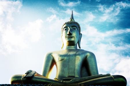 Buddha and the sky Stock Photo - 14480107