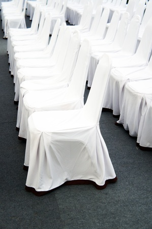 Chairs and a white veil                  photo