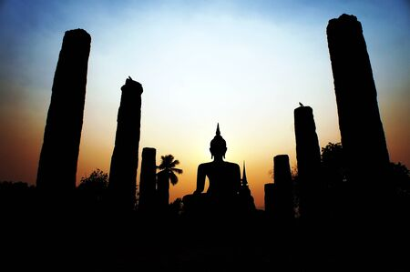 buddha and sunset                   photo