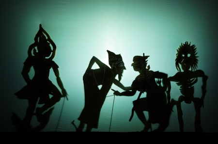puppet theatre: Shadow play