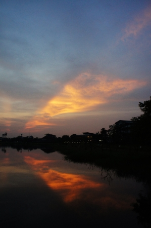 Sunset in Nong Bua Park 2 photo