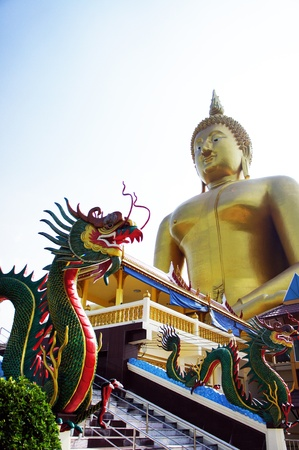 dragon and Buddha statue 2 Stock Photo - 16254431