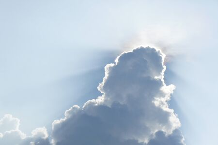 clouds and sun  photo