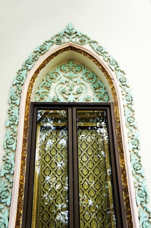 window in the temple of thailand photo