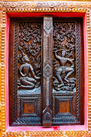 Wood carvings inside the church Stock Photo - 17205082