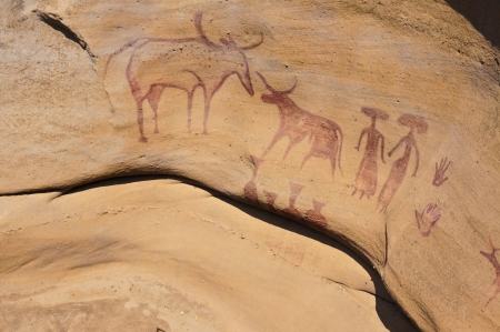 cavern: 3000 Bok Cave Paintings Stock Photo