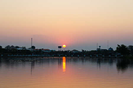 Sunset in Nong Bua Park photo