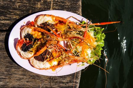 Grilled shrimp 2 Stock Photo